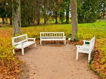 Three benches Royalty Free Stock Photos