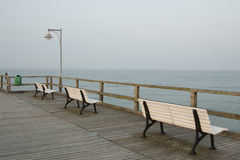 Three benches Stock Photography