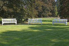 Three benches Royalty Free Stock Images