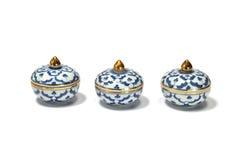Three benjarong Royalty Free Stock Images