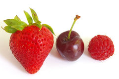 Three berries Royalty Free Stock Images