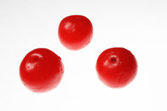 Three berry. Are decoration on white background Stock Images