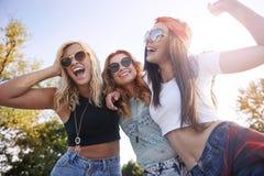 Three best girlfriends Royalty Free Stock Photos
