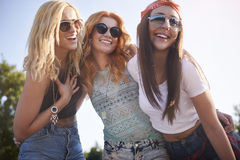 Three best girlfriends Stock Photos