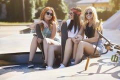 Three best girlfriends Stock Photo