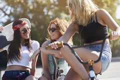 Three best girlfriends Royalty Free Stock Photography