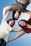 Three best girlfriends having fun under the sun Royalty Free Stock Photography