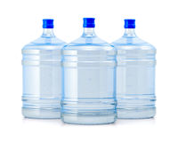 Three big bottles water Stock Photos
