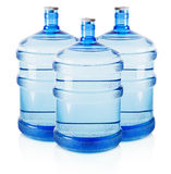 Three big bottles of water isolated on the white background Stock Photography