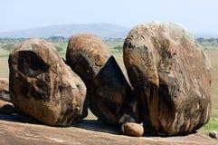Three big boulders. Royalty Free Stock Photography