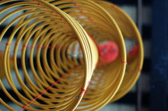 Three big incense coils Stock Photo