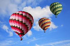 Three big multi-colored balloons Royalty Free Stock Images