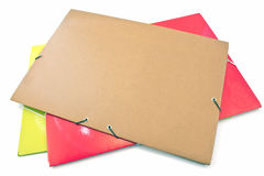 Three big portfolio folders Royalty Free Stock Image