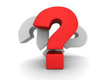 Three big question marks on white background Stock Photo