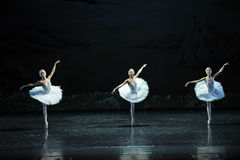 Three big Swan-The Swan Lakeside-ballet Swan Lake. In December 20, 2014, Russia's St Petersburg Ballet Theater in Jiangxi Nanchang performing ballet Swan Lake Stock Photo