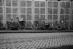 Three Bikes in Amsterdam Royalty Free Stock Photo