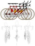 Three Bikes In The Line Race Vector 05 Royalty Free Stock Photos