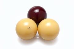 Three billiard balls Stock Photography