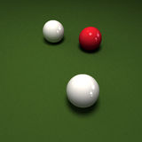 Three billiard balls Stock Photo