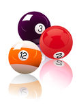 Three_billiard_balls Royalty Free Stock Photos