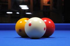 Three billiard balls II Stock Photos