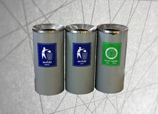Three bins abstract line background Royalty Free Stock Photography