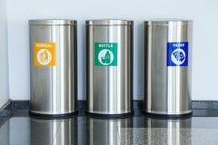 Three bins Royalty Free Stock Images