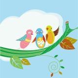 Three birds Royalty Free Stock Images