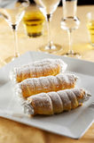 Three Biscuit Rolls Stock Images