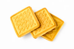 Three Biscuits Royalty Free Stock Photography