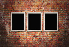 Three black frames Royalty Free Stock Photos