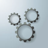 Three Black Gears Royalty Free Stock Images