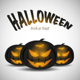Three Black Jack O Lanterns royalty free illustration