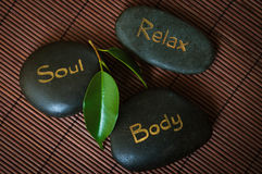 Three black massage stone Stock Photography