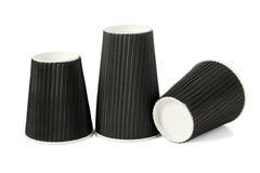 Three Black Paper Cups Stock Image