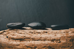 three black pebbles Royalty Free Stock Photos