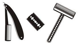 Three black razors Royalty Free Stock Photography