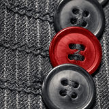 Three black and red buttons Royalty Free Stock Image