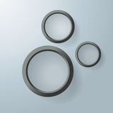Three Black Rings Royalty Free Stock Photos