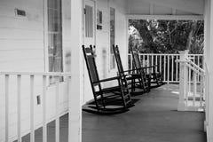 Free Three Black Rocking Chairs - Coastal Discovery Museum, Hilton Head Island Royalty Free Stock Images - 193333329
