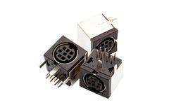 Three black sockets Stock Photo