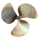 Three-bladed propeller. Isolated over white Royalty Free Stock Photos