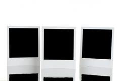 Three blank cards Royalty Free Stock Photos