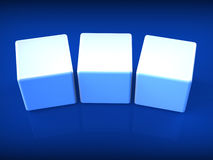 Three Blank Dice Show Copyspace For 3 Letter Word Royalty Free Stock Photo