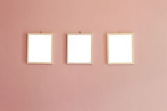 Three blank frame Royalty Free Stock Photo