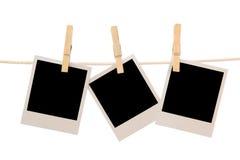 Three blank instant photos Stock Photo