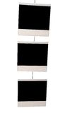 Three blank instant prints Royalty Free Stock Image