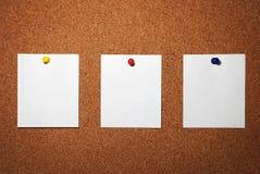 Three Blank Note Stock Image