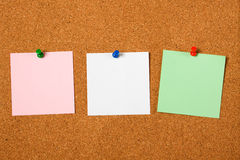 Three blank notes Stock Photo