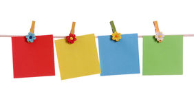Three blank notes Stock Photography